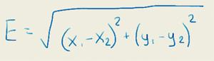 Евклидово расстояние. Формула